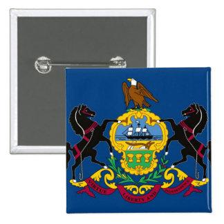 Pennsylvania State Flag 2 Inch Square Button