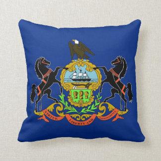 Pennsylvania State Flag American MoJo Pillow
