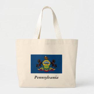 Pennsylvania State Flag Canvas Bags