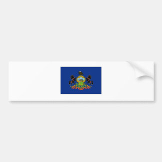 Pennsylvania State Flag Bumper Sticker