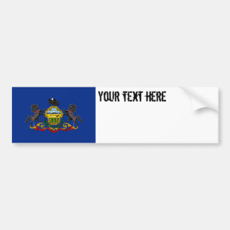 Pennsylvania State Flag Car Bumper Sticker