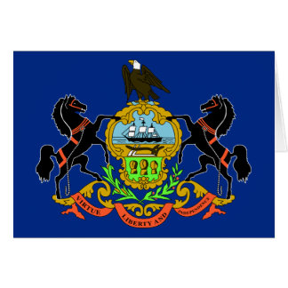 Pennsylvania State Flag Card