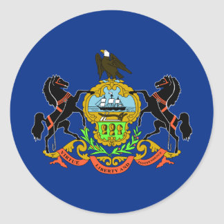 Pennsylvania State Flag Classic Round Sticker