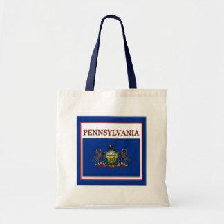 Pennsylvania State Flag Design Budget Canvas Bag