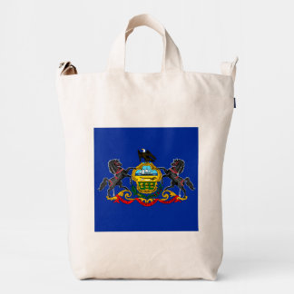 Pennsylvania State Flag Design Duck Bag