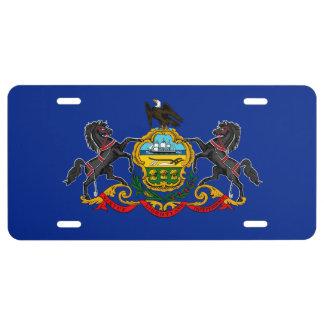Pennsylvania State Flag Design License Plate