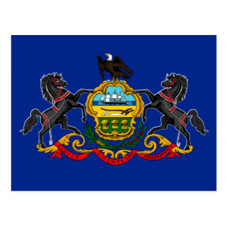 Pennsylvania State Flag Design Postcard
