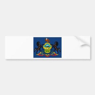 Pennsylvania State Flag Detail Bumper Sticker