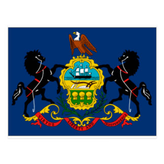 Pennsylvania State Flag Detail Postcard