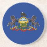 Pennsylvania State Flag Drink Coaster