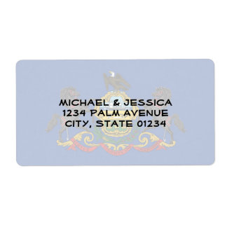 Pennsylvania State Flag Label