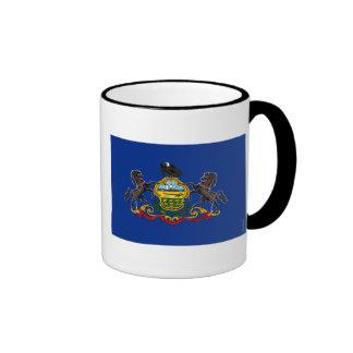 Pennsylvania State Flag Ringer Mug