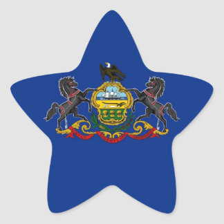 Pennsylvania State Flag Star Sticker