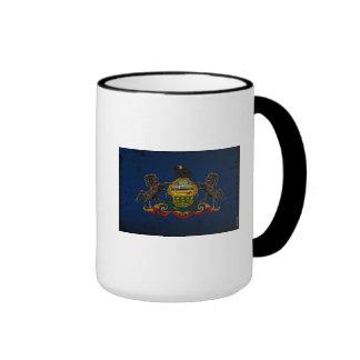Pennsylvania State Flag VINTAGE Ringer Mug
