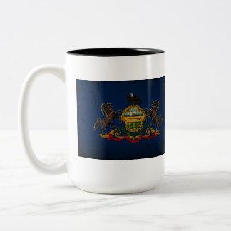 Pennsylvania State Flag VINTAGE Two-Tone Coffee Mug
