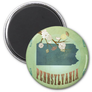 Pennsylvania State Map – Green Magnet