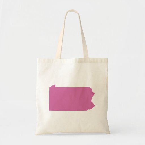 Pennsylvania State Outline Budget Tote Bag