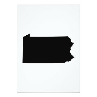 Pennsylvania State Outline Card