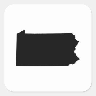 Pennsylvania State Outline Square Sticker