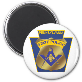 Pennsylvania State Police 2 Inch Round Magnet
