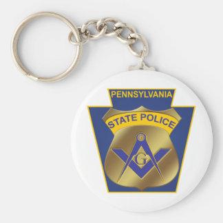 Pennsylvania State Police Basic Round Button Keychain