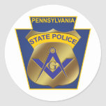 Pennsylvania State Police Classic Round Sticker