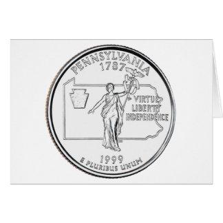 Pennsylvania State Quarter Greeting Card