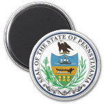 Pennsylvania State Seal 2 Inch Round Magnet