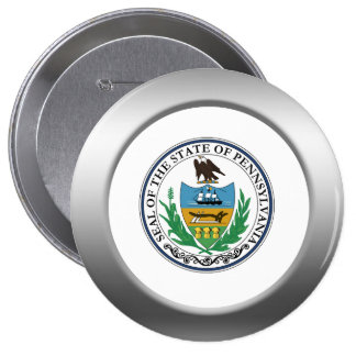 Pennsylvania State Seal 4 Inch Round Button