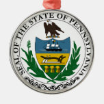 Pennsylvania State Seal Christmas Tree Ornaments