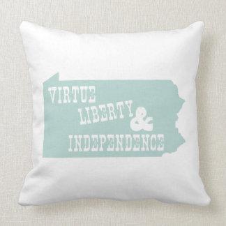 Pennsylvania State Slogan Motto Pillows