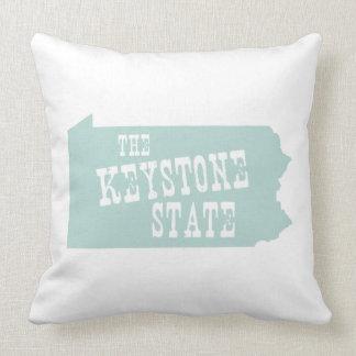Pennsylvania State Slogan Motto Pillow