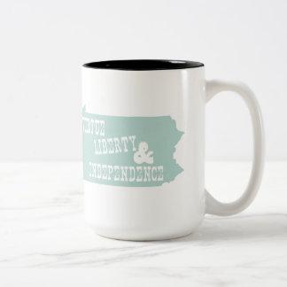 Pennsylvania State Slogan Motto Two-Tone Coffee Mug