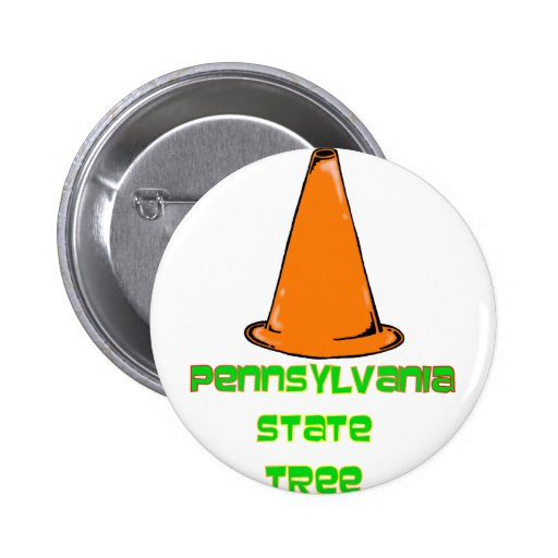 Pennsylvania State Tree 2 Inch Round Button