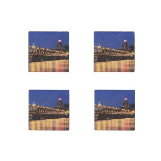 Pennsylvania State Walnut Street Bridge Stone Magnet
