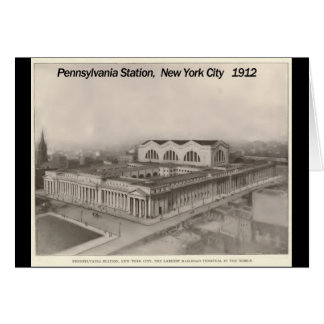 Pennsylvania Station New York 1912 Stationery Note Card