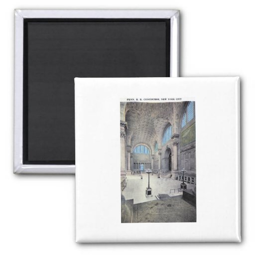 Pennsylvania Station, New York City 1913 Vintage 2 Inch Square Magnet