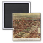 Pennsylvania Station New York City in 1910 2 Inch Square Magnet