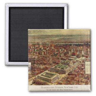 Pennsylvania Station New York City in 1910 Fridge Magnet
