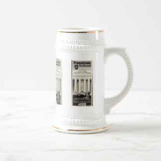 Pennsylvania Station New York ,Timetable 1941 Beer Stein