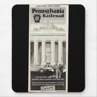 Pennsylvania Station New York ,Timetable 1941 Mouse Pad