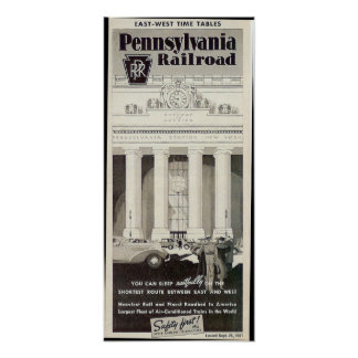 Pennsylvania Station New York ,Timetable 1941 Poster