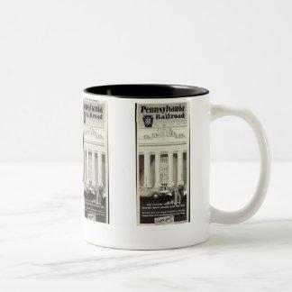 Pennsylvania Station New York ,Timetable 1941 Two-Tone Coffee Mug