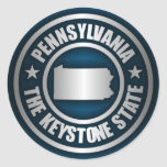 Pennsylvania Steel (B) Classic Round Sticker