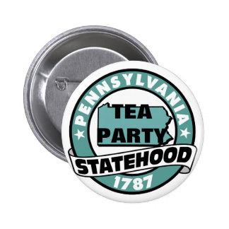 PENNSYLVANIA TEA PARTY STATE 2 INCH ROUND BUTTON
