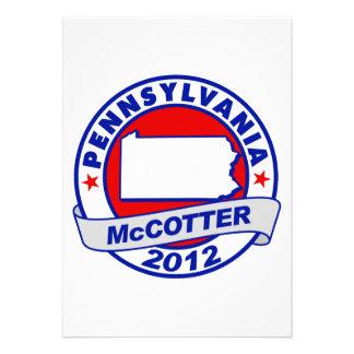 Pennsylvania Thad McCotter Custom Invitations