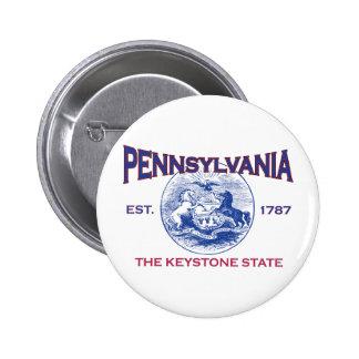 PENNSYLVANIA The Keystone State 2 Inch Round Button