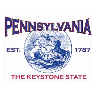 PENNSYLVANIA The Keystone State Postcard