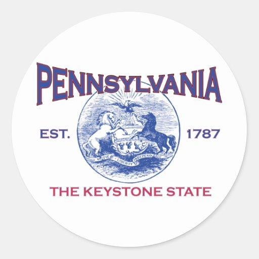 PENNSYLVANIA The Keystone State Classic Round Sticker