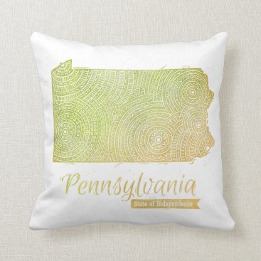 USA Themed Pennsylvania Throw Pillow